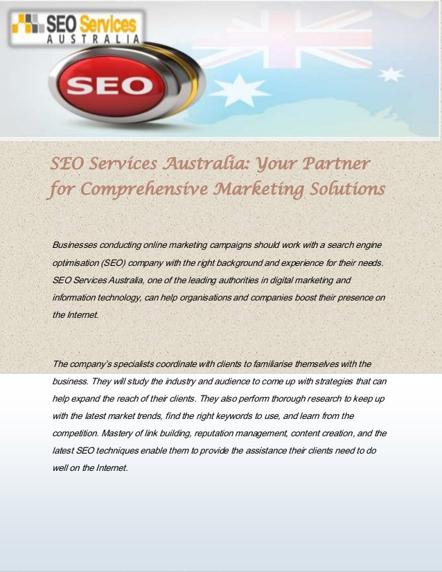 SEO Services Australia: Your Partner for Comprehensive Marketing Solutions Businesses conducting online marketing campaign...