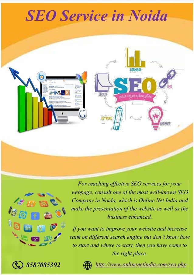 SEO Service in Noida For reaching effective SEO services for your webpage, consult one of the most well-known SEO Company ...
