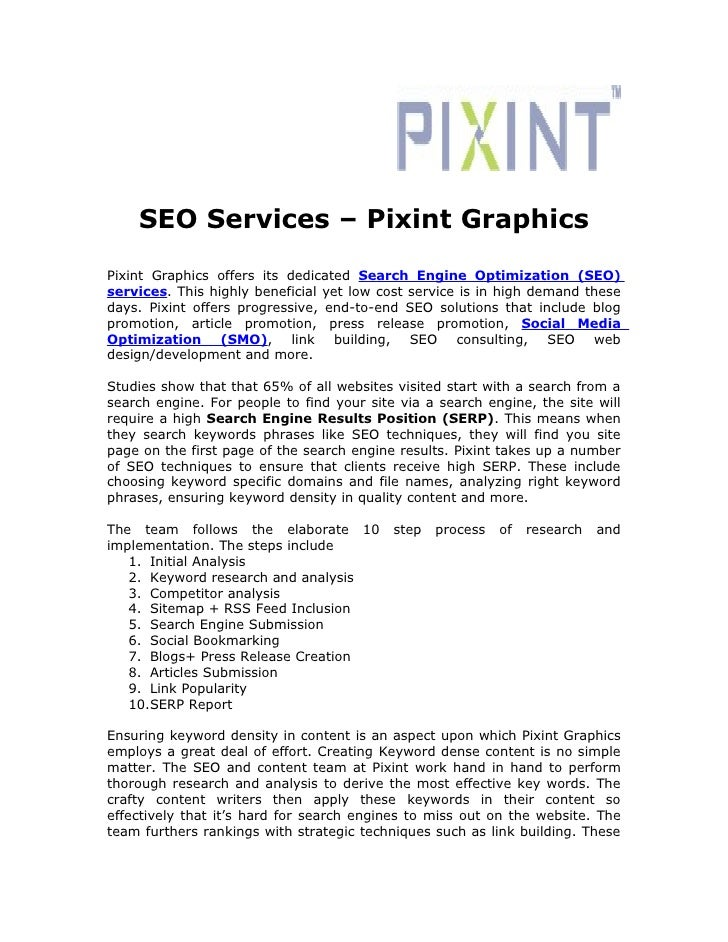 SEO Services – Pixint Graphics Pixint Graphics offers its dedicated Search Engine Optimization (SEO) services. This highly...