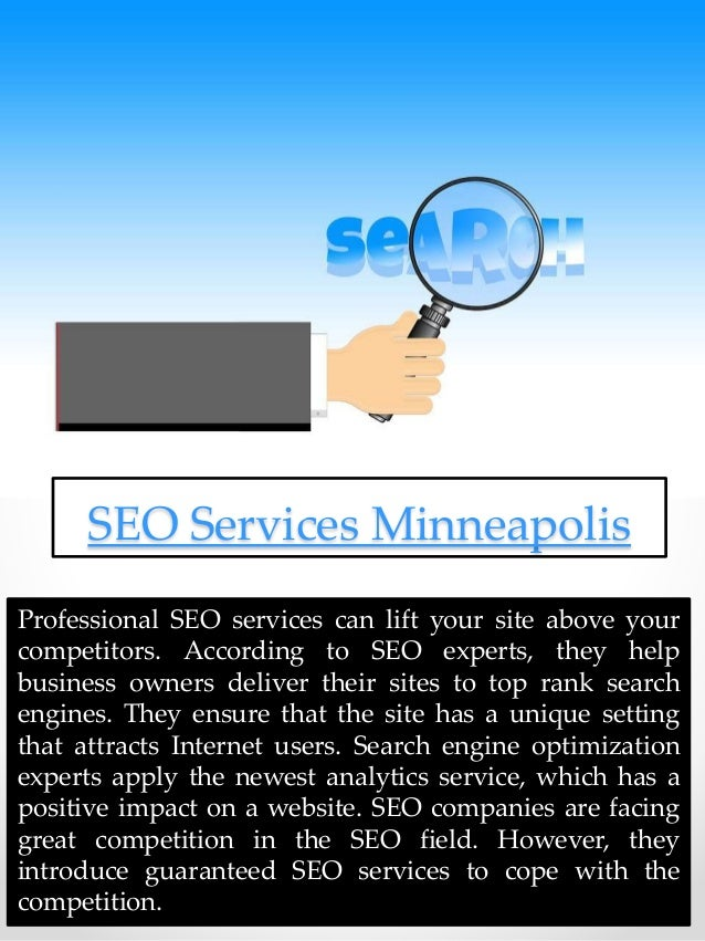 Professional SEO services can lift your site above your competitors. According to SEO experts, they help business owners d...