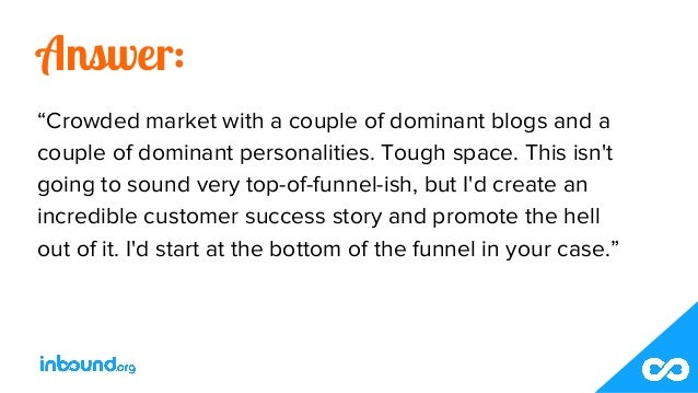 """Answer: """"Crowded market with a couple of dominant blogs and a couple of dominant personalities. Tough space. This isn't go..."""