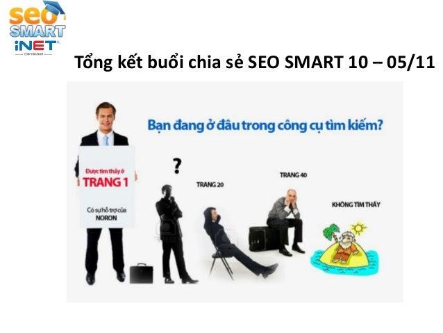 Tổng kết buổi chia sẻ SEO SMART 10 – 05/11