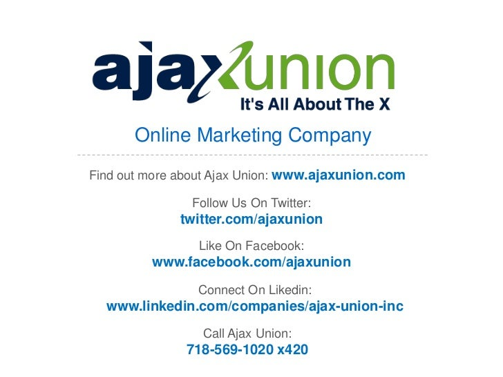 Online Marketing CompanyFind out more about Ajax Union: www.ajaxunion.com               Follow Us On Twitter:             ...