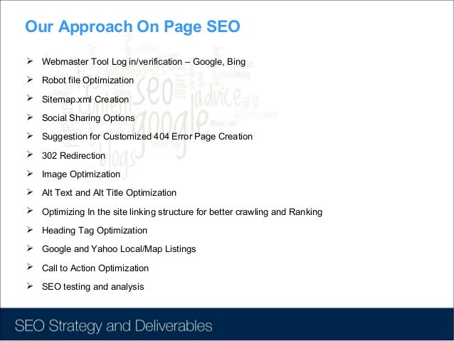 seo strategy deliverables best seo in hyderabad best seo in india