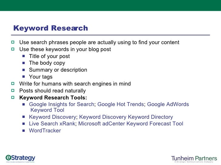 Search Engine Optimization Tips For Bloggers slideshare - 웹