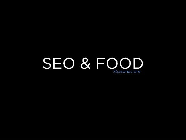 SEO for Food Blogs