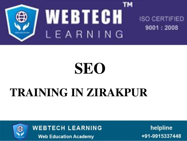 SEO TRAINING IN ZIRAKPUR