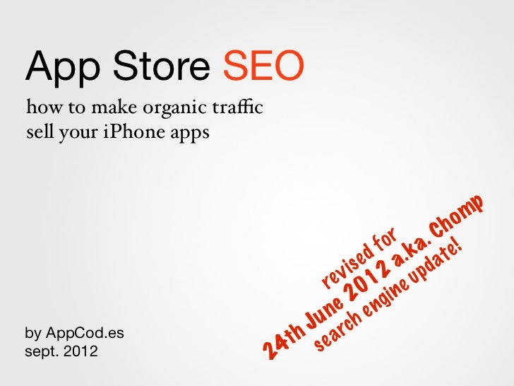 App Store SEOhow to make organic trafficsell your iPhone apps                                                             m ...