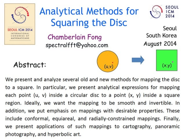 Mappings for Squaring the Circular Disc