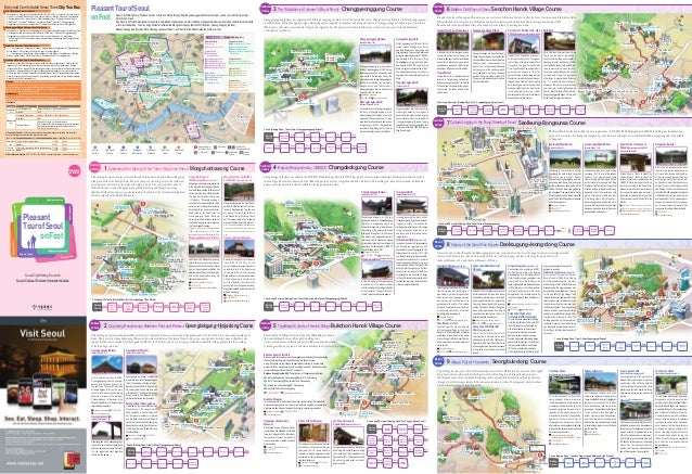 Seoul Walking Tour Guide Map