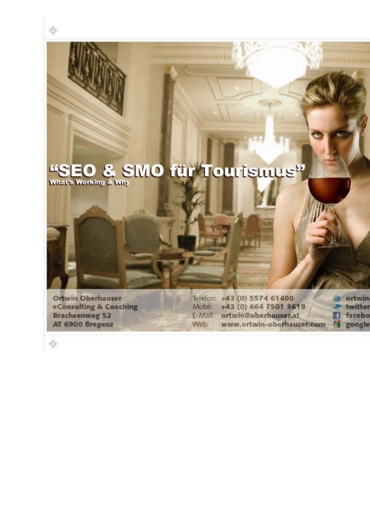 """""""SEO & SMO für Tourismus""""              What's Working & Why"""