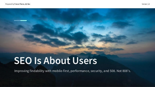 SEO Is About Users