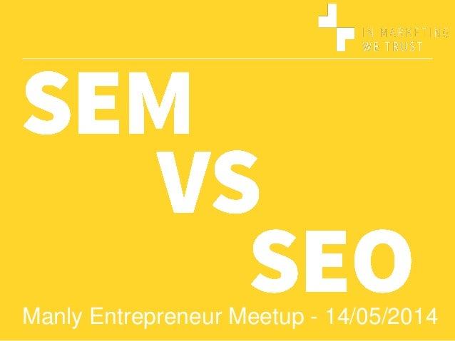 Manly Entrepreneur Meetup - 14/05/2014