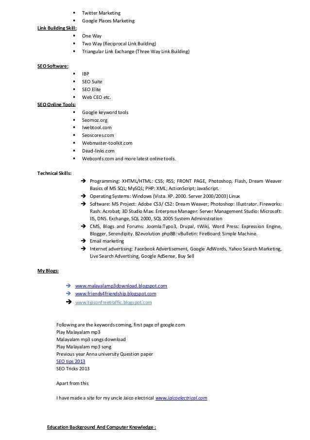 seo web analyst resume tinils resume new copy
