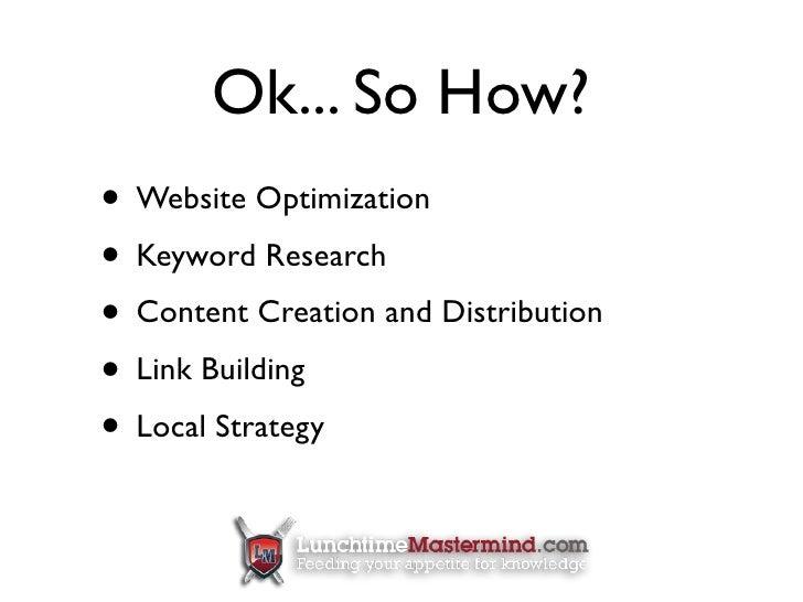 Small Business SEO - Webinar slideshare - 웹