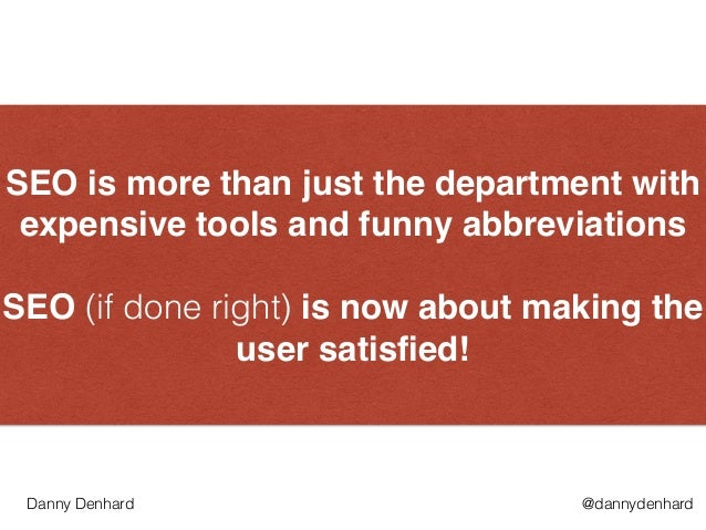"""SEO is more than just the department with expensive tools and funny abbreviations"""" ! SEO (if done right) is now about maki..."""