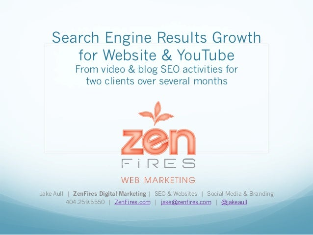 Search Engine Results Growth  for Website & YouTube  From video & blog SEO activities for  two clients over several months...