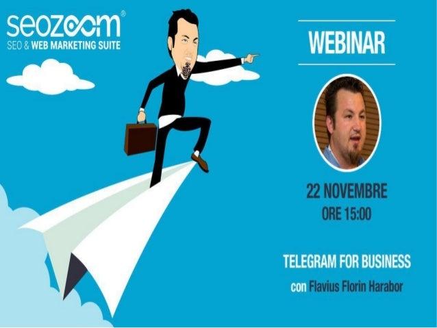 Telegram for Business: ChatBot, Canali ed altro per le nuove strategie di comunicazione aziendale Sono uno sviluppatore e ...