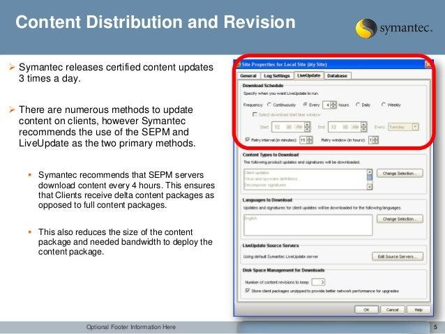 Symantec server not updating definitions