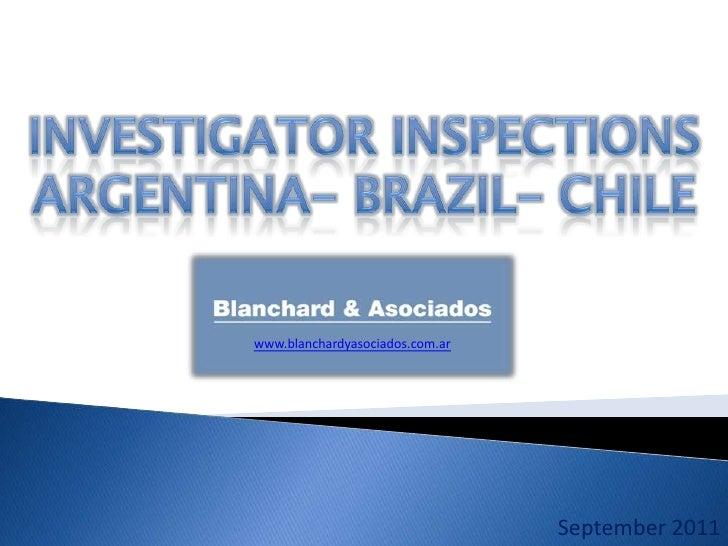 www.blanchardyasociados.com.ar                                 September 2011