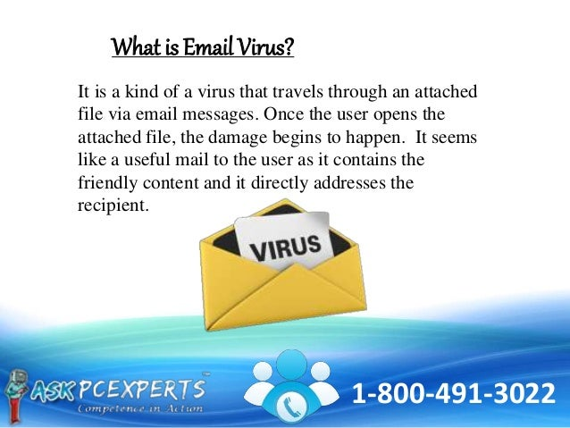 Identify the effects and remedies of email virus