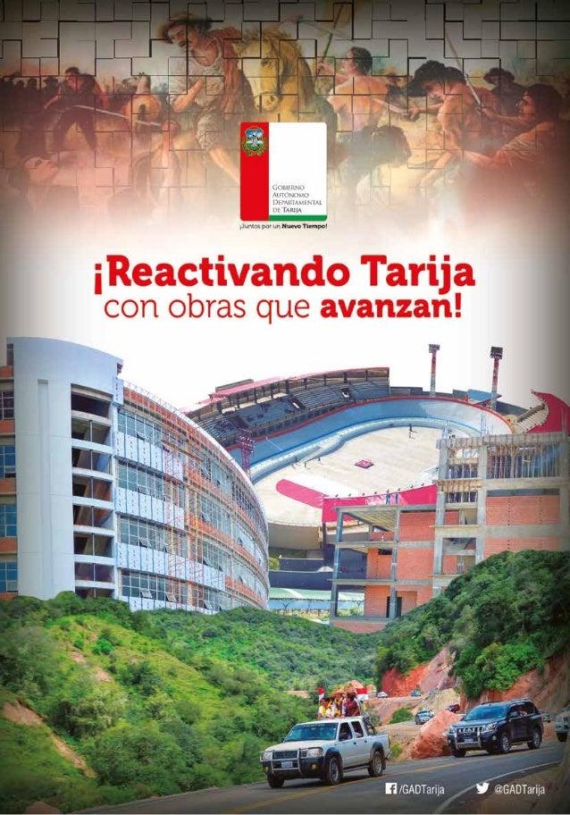 ¡Reactivando Tarija con obras que avanzan¡ 1