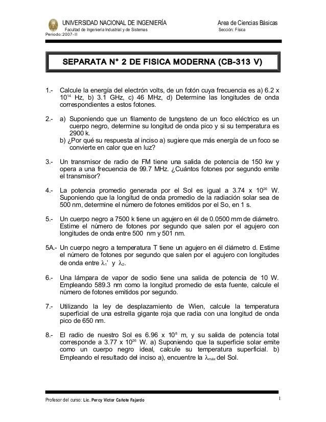 UNIVERSIDAD NACIONAL DE INGENIERÍA                     Area de Ciencias Básicas          Facultad de Ingeniería Industrial...