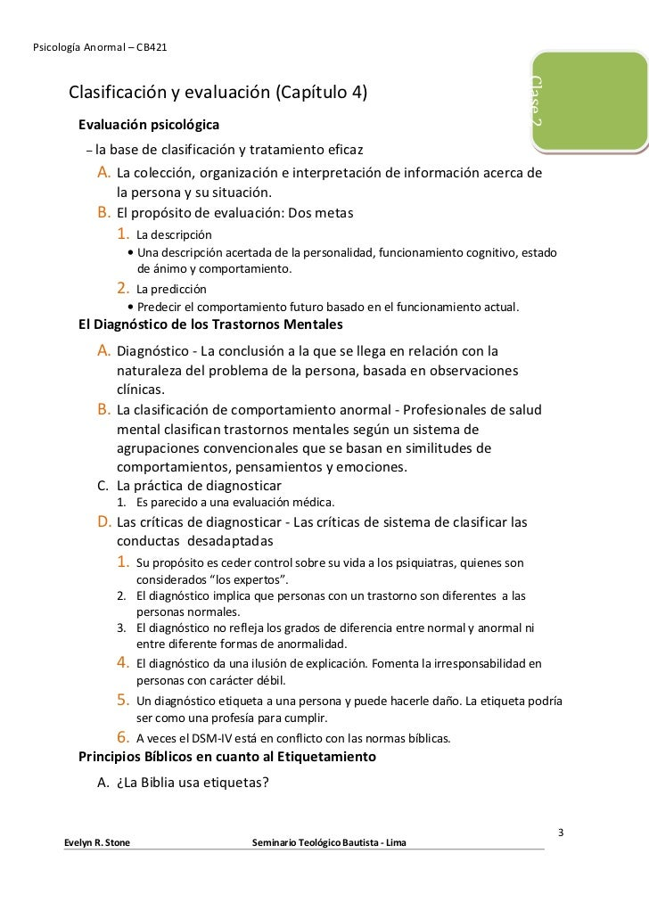 Psicología Anormal – CB421                                                                                                ...