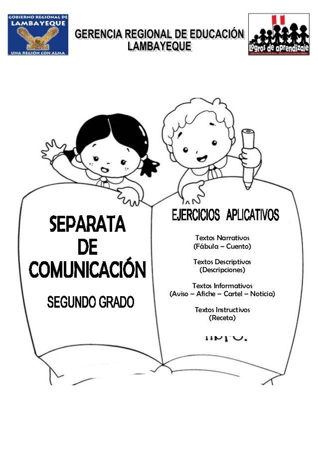 Textos Narrativos (Fábula – Cuento) Textos Descriptivos (Descripciones) Textos Informativos (Aviso – Afiche – Cartel – Not...