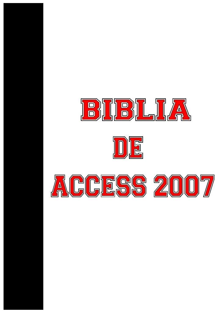 1. Elementos básicos de Access 2007 2. Crear, abrir, cerrar una base de datos 3. Crear tablas de datos 4. Modificar tablas...