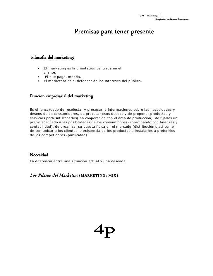UPT – Marketing -1                                                                              Recopilación: Lic Giovanna...