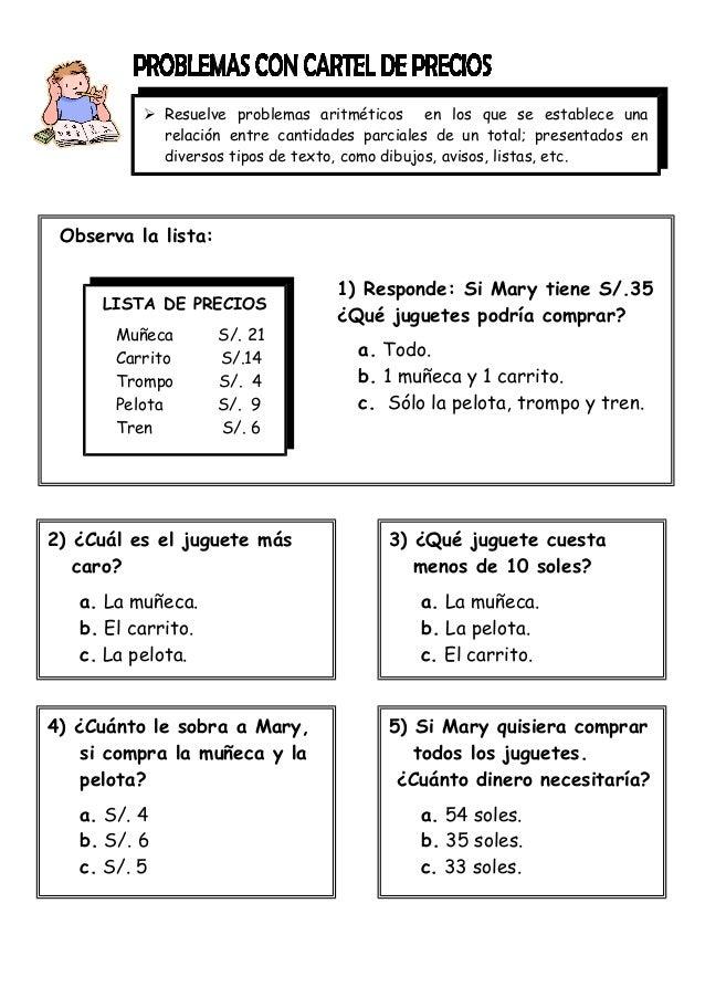 Problemas De Matematicas Para Ninos De 2 Grado De Primaria Ninos Relacionados