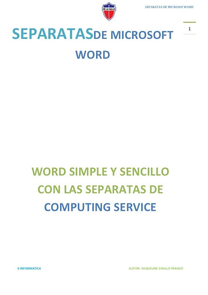 SEPARATAS DE MICROSOF WORD                                                         1SEPARATASDE MICROSOFT                 ...
