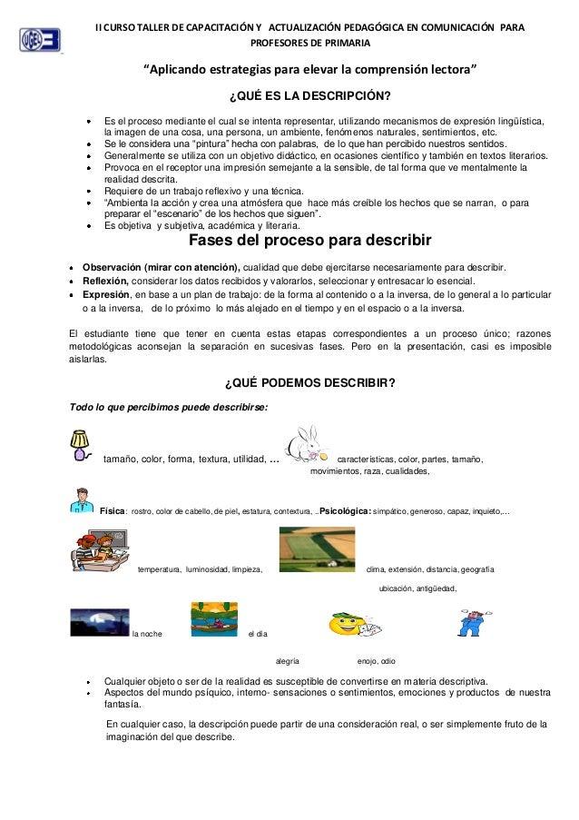 II CURSO TALLER DE CAPACITACIÓN Y ACTUALIZACIÓN PEDAGÓGICA EN COMUNICACIÓN PARA                                    PROFESO...
