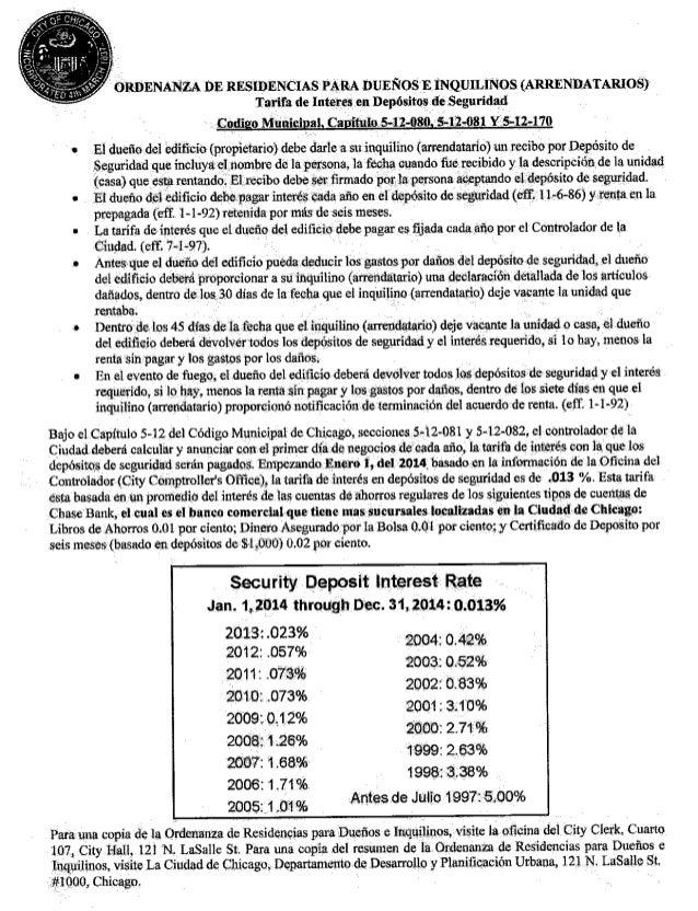 Chicago RLTO Separate Summary Spanish