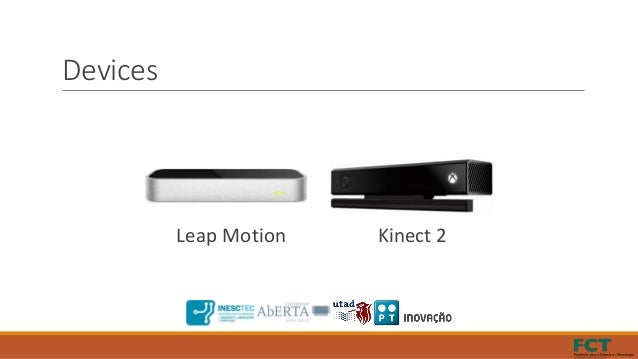 Devices Leap Motion Kinect 2