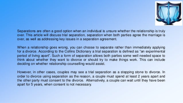 Separation And Separation Agreements