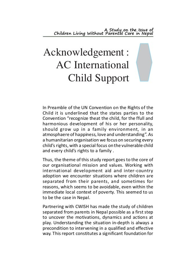 Poverty and Child Abandonment | Case Study Template