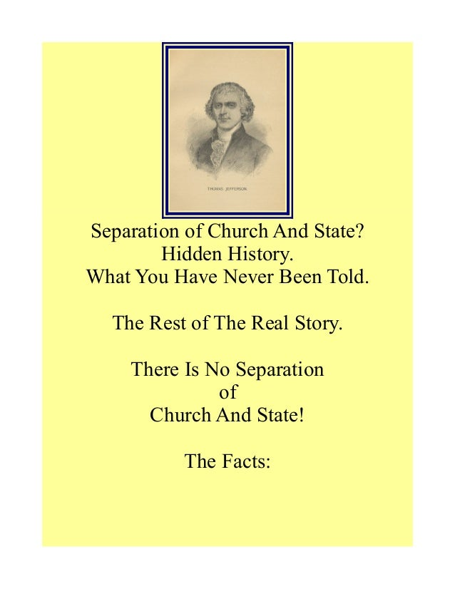 Separation of Church And State? Hidden History. What You Have Never Been Told. The Rest of The Real Story. There Is No Sep...