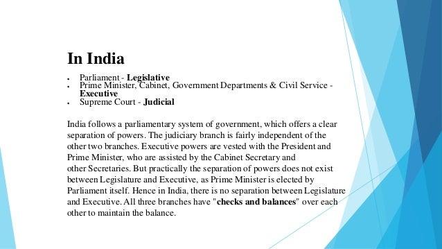 Separation of powers - Cabinet secretariat govt of india ...