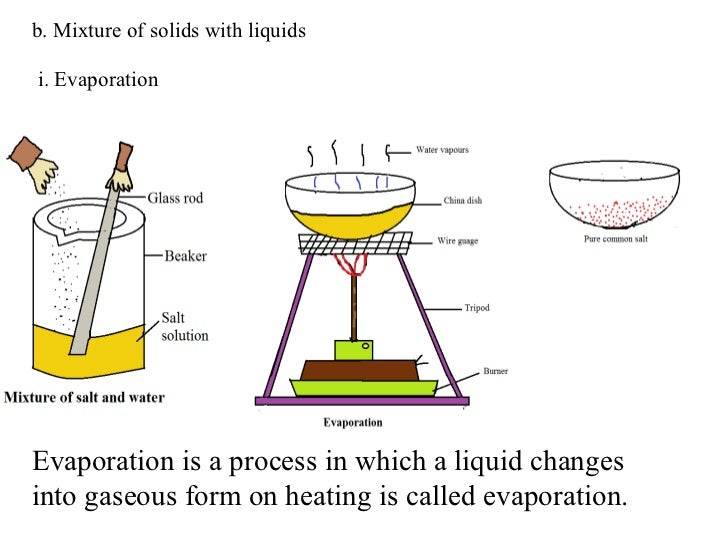 separation of mixtures and solids Separation of mixtures  so the substances will retain their chemical identity throughout the separation process  the solid portions is what you want and .