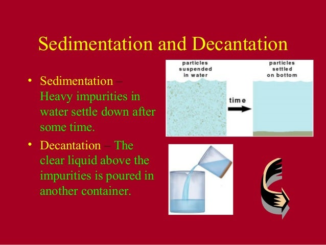 Separation Of Substances Ncert Chapter Vi Cbse India
