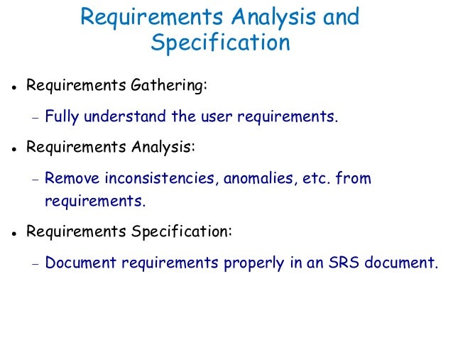 Software Engineering  Requirement Analysis  Specification