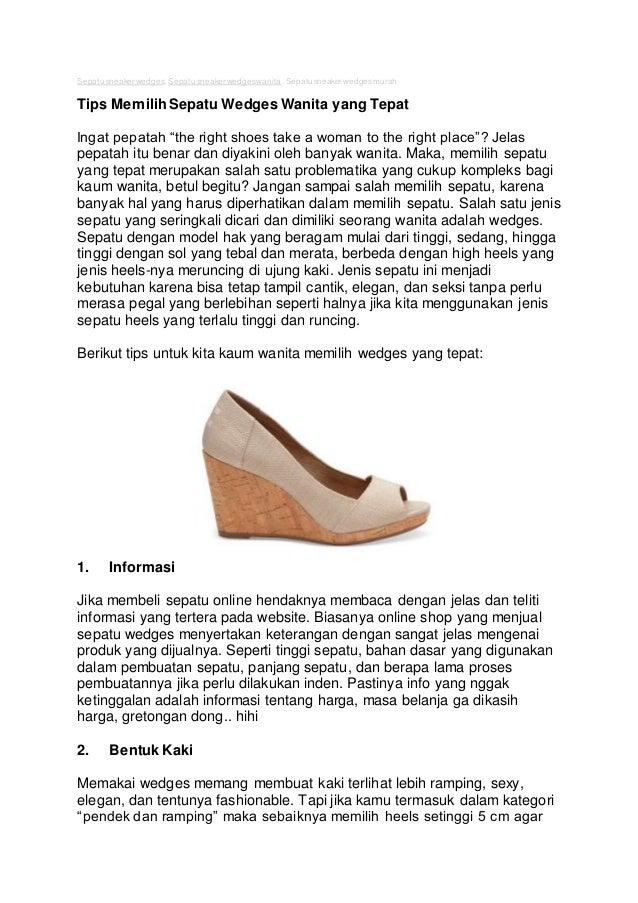 Sepatu sneaker wedges wanita 31b23eafe6