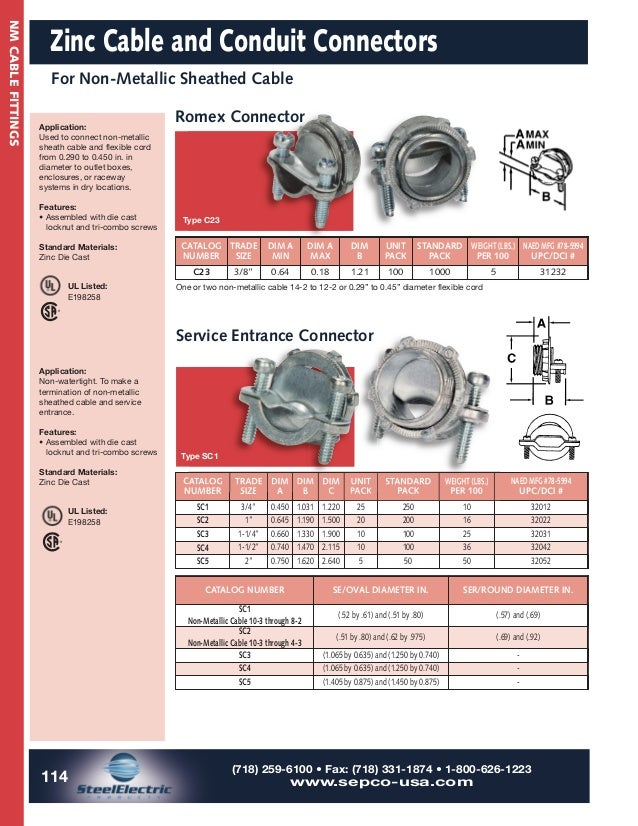 Sepco Steel Electric Conduit  U0026 Cable Fittings