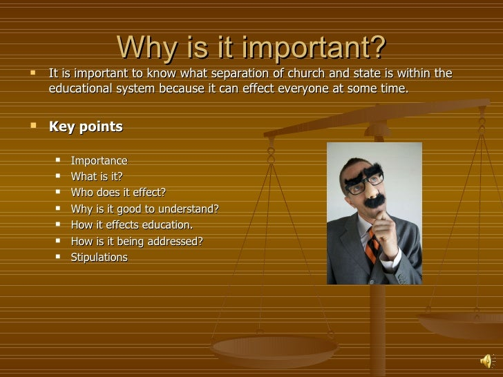 The lack of separation of church