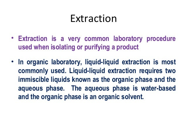 extraction: extraction with acid and alkali essay The following essay is an  the history of alginate extraction by jim  depending upon the degree of polymerisation of the alginic acid the alkali metal salt.