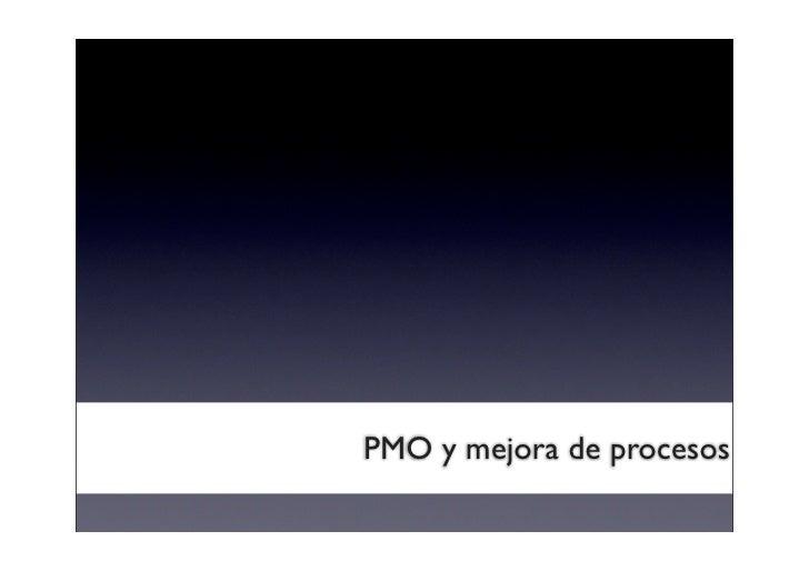 PMO y mejora de procesos