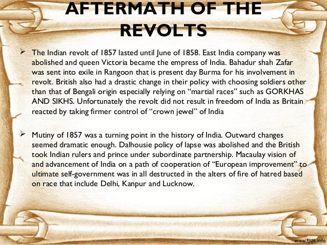essay on the sepoy mutiny of 1857 Research paper example essay prompt: the sepoy mutiny of 1857 - 1292 words note: the samle research paper or essay prompt you see on this page is a free essay, available to anyone you can use any paper as a sample on how to write research paper, essay prompts or as a source of information.