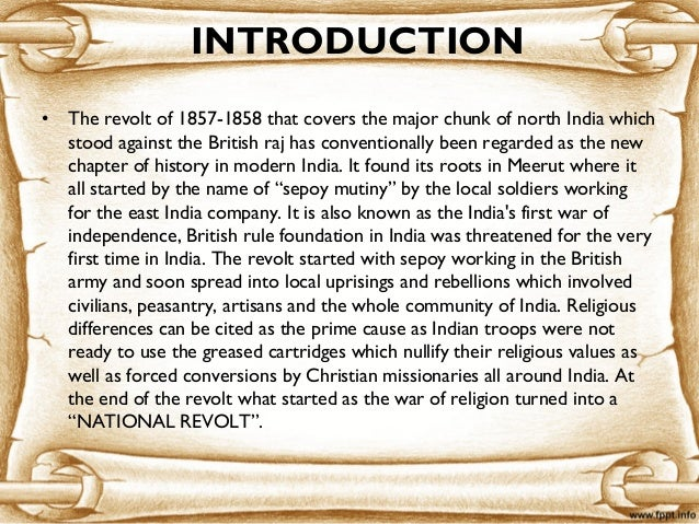 Sepoy Rebellion | Causes of Sepoy rebellion 1857 | Essay